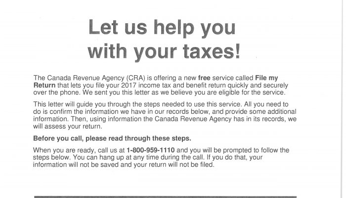 CRA scammers hit Wadena again!